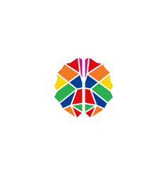 colorful brain logo design template vector image
