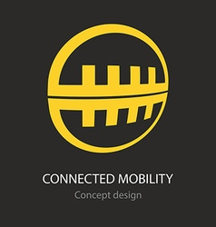 Connected mobility busines icon vector image