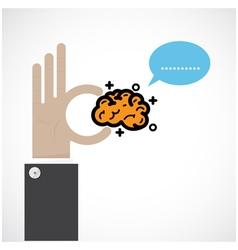 Creative brain sign ideaflat design vector image