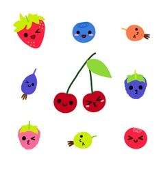 Cute Berries Character collection vector