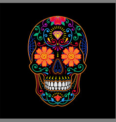 decorative colorful painted mexican sugar skull on vector image