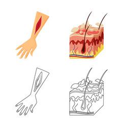 Design medical and pain logo set vector