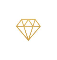 diamond line gem icon crystal value vector image