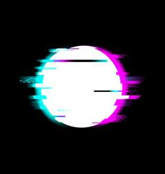 Distorted glitch style start recording media video vector