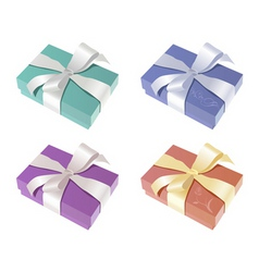 elegant gift boxes vector image