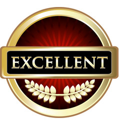 excellent gold icon vector image