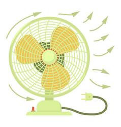 Fan icon cartoon style vector