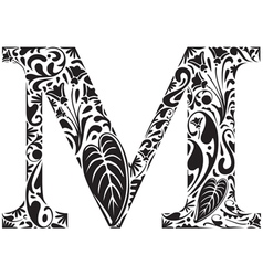 Floral M vector
