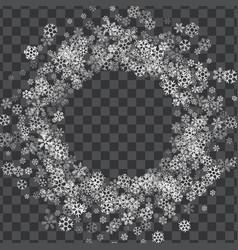 Frame or border random scatter snowflakes vector
