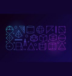 Geometry outline colorful vector