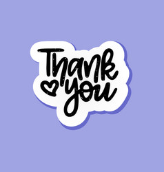 hand-drawn thank you paper speech bubble vector image