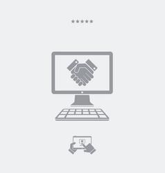 Handshake for web business vector