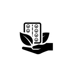 herbal medicine icon flat design vector image