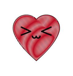 kawaii heart health care medicine symbol vector image