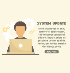 Last system update concept banner flat style vector