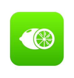 lemon icon green vector image