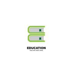 Letter e education logo template icon element vector