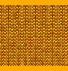 Light and dark orange knit seamless pattern eps vector