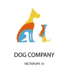 Logo with a dogs vector