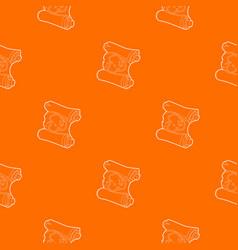 map pattern orange vector image