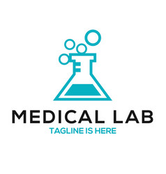 Medical lab logo vector
