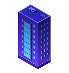Night city building apartment residential vector