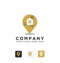pin location logo icon template vector image