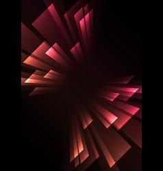 Pink orange overlap stripe rush in dark background vector