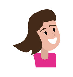portrait woman happy image vector image