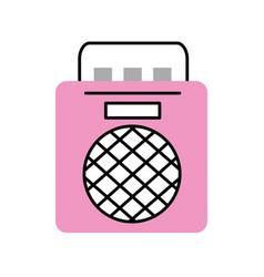Radio music player icon vector