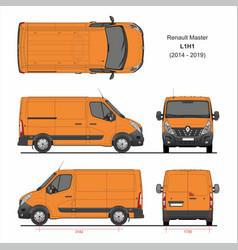 Renault master cargo delivery van l1h1 2014-2019 vector