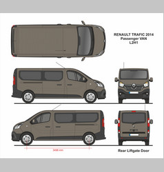 Renault trafic passenger van l2h1 2014 vector