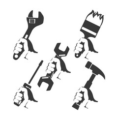 repair tools in hand vector image