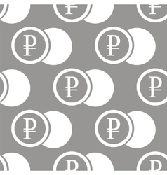 Rouble coin seamless pattern vector image