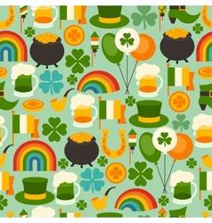 Saint Patricks Day seamless pattern vector image