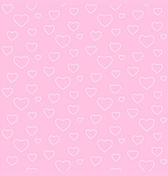 seamless geometric pattern white heart valentine vector image