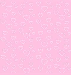 Seamless geometric pattern white heart valentine vector