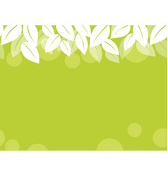 seamless leaf background vector image