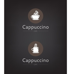 Set cafe coffee bar vector