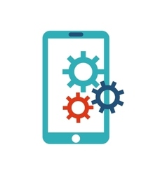 smartphone technology with seo icon vector image
