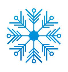 snowflake thin line ftat design vector image