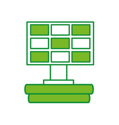 Solar panel alternative ecological car battery vector