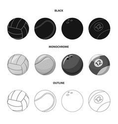 Sport and ball logo vector