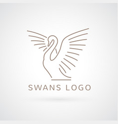 Swan logo sign emblem-10 vector