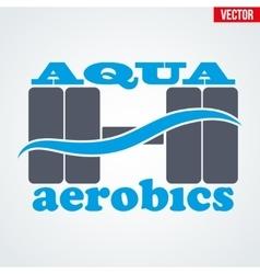 Symbol aqua aerobics vector