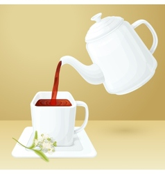 Tea Cup And Pot vector image
