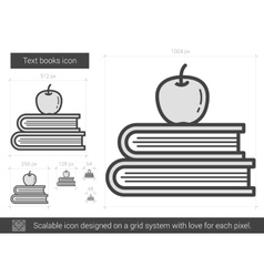Text books line icon vector