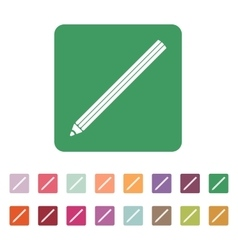 The pencil icon Pencil symbol Flat vector image