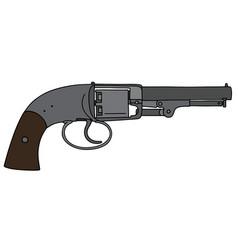 Vintage american revolver vector