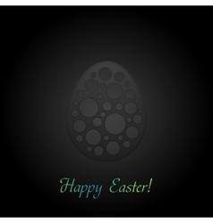 Black concept easter egg background vector